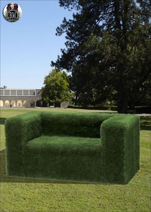 Two seats sofa cm. 170x77 h. grass-covered 90 mm. 55