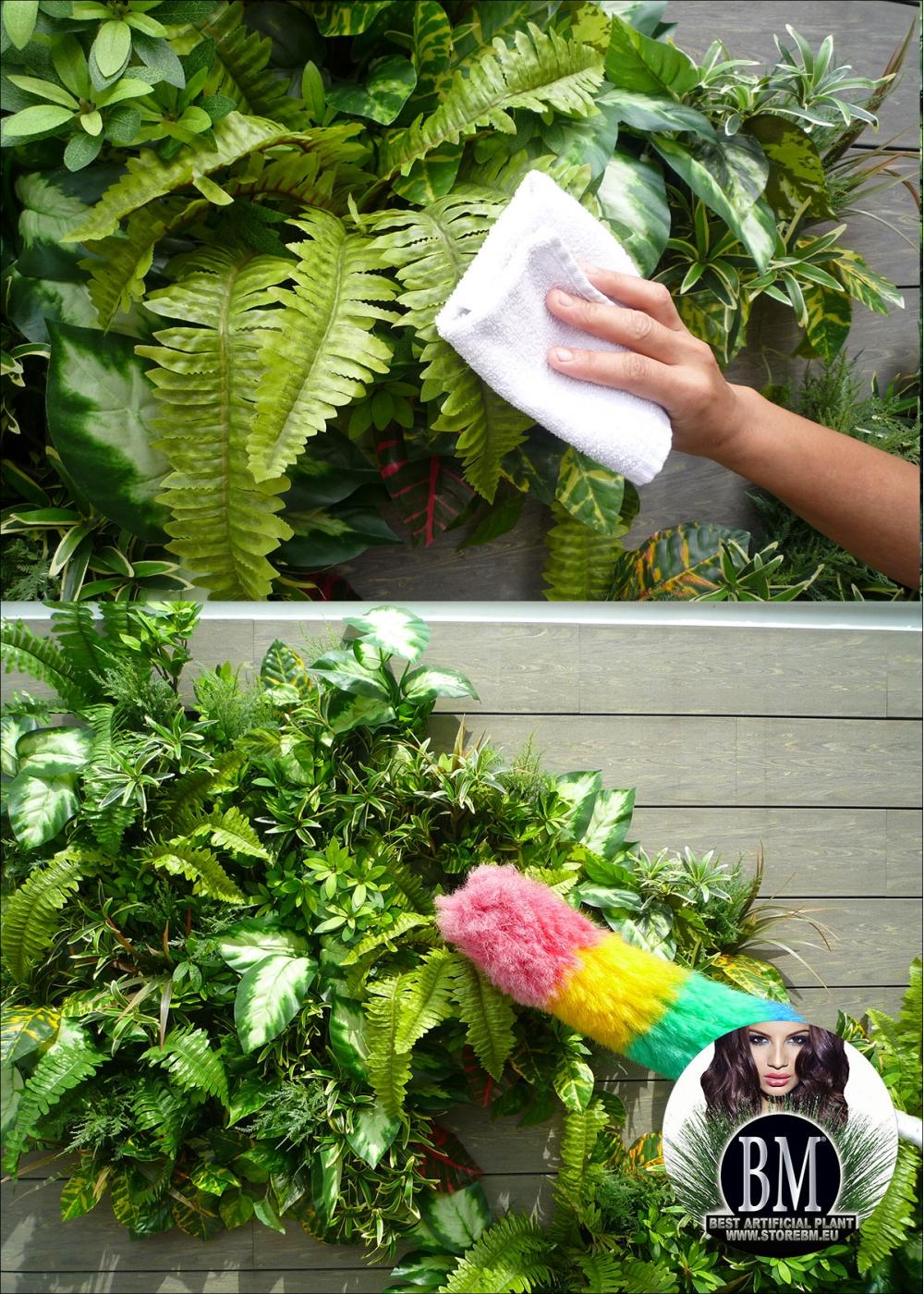 Quadro giardino verticale artificiale 180x60cm mod a - Giardino artificiale ...