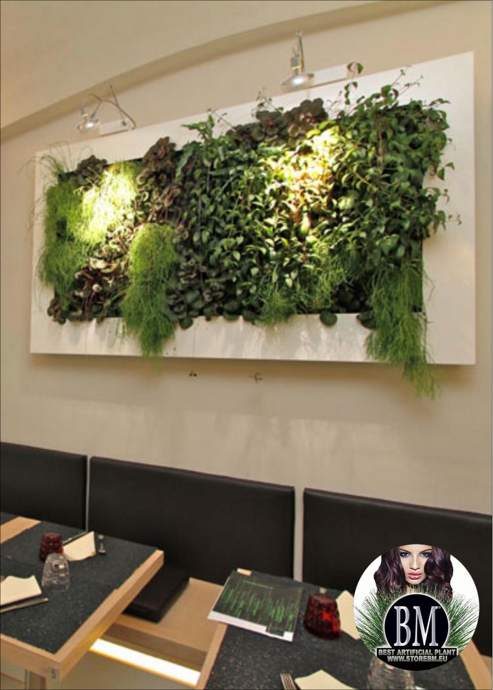 Quadro giardino verticale artificiale 170x80cm mod b for Giardino artificiale