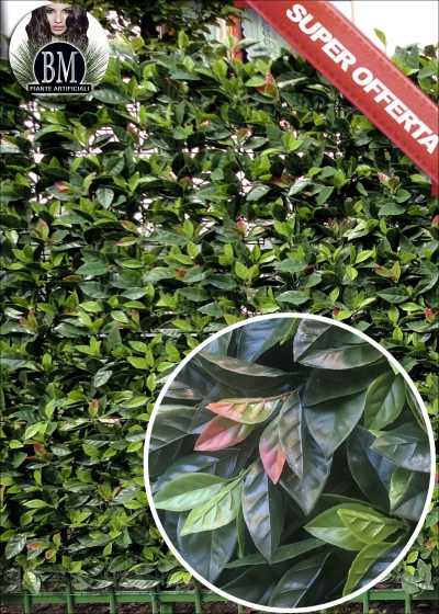 PHOTINIA Artificiale da 1MQ piastrella  (100x100) - Disponibilità LIMITATA !! Entra e Guarda il Video !