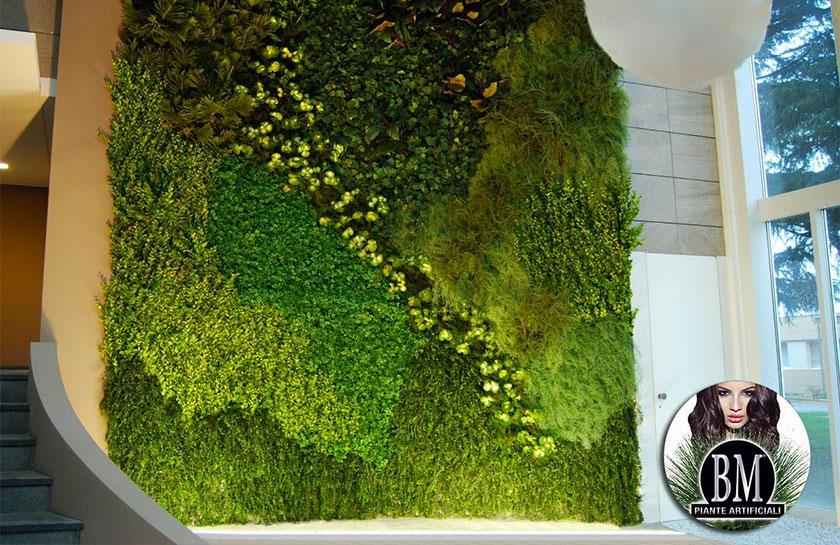 bm contract e le pareti di giardino verticale artificiale - Piante Per Giardini Verticali
