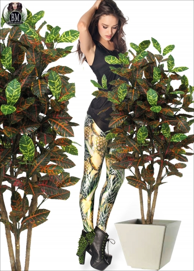 Croton Artificial Medium Different Heights