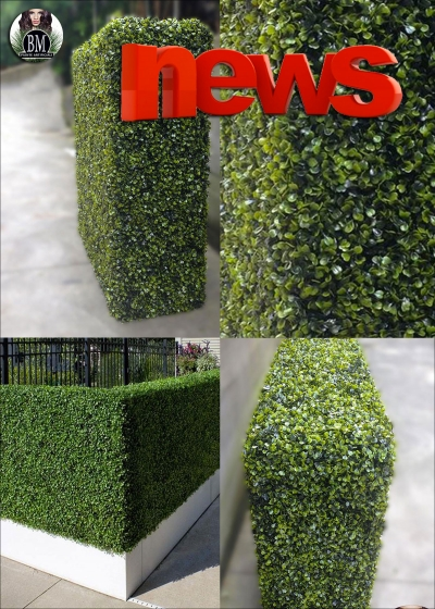 Boxwood Artificial 3D ( Built in Hands - Resistant outdoor), please CONTACT us FOR a QUOTE