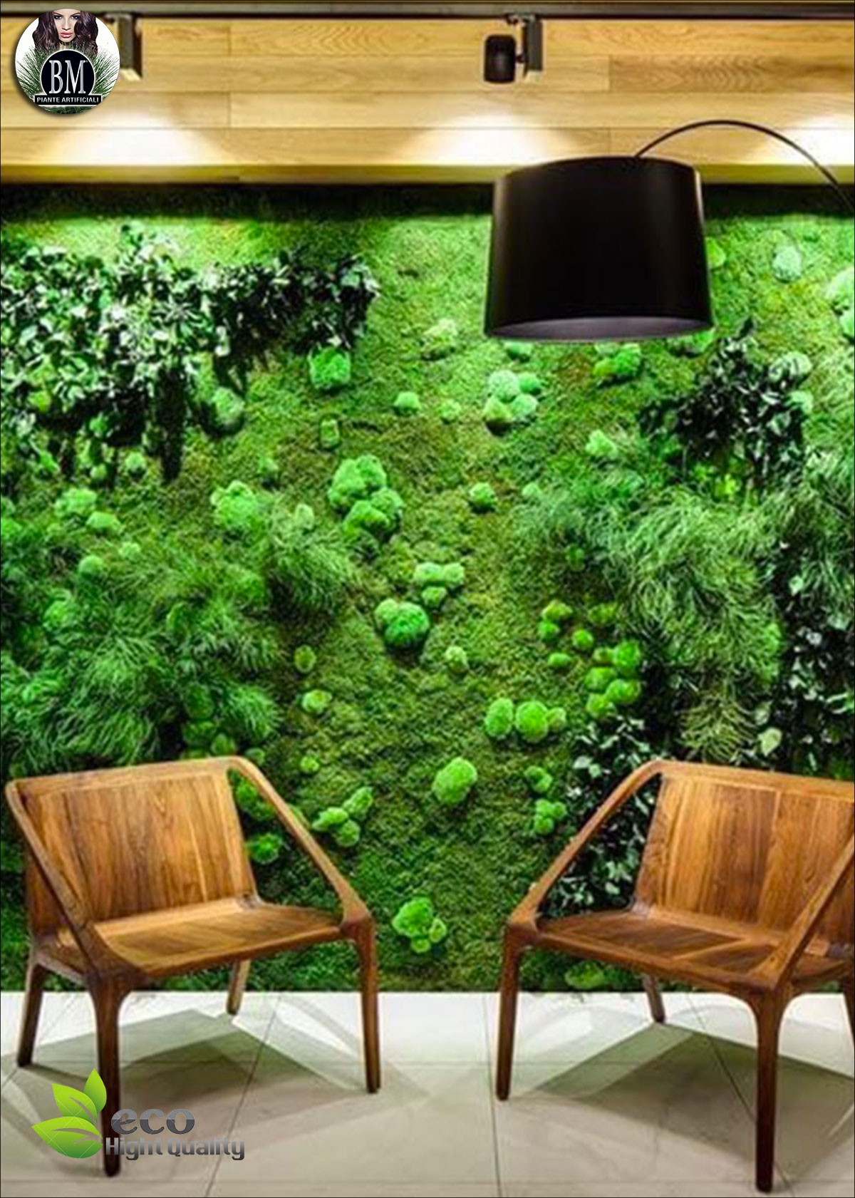 Pareti Verdi Verticali Costi parete-di-bosco-stabilizzato-pannelli-da-100x100cm-prezzo-al